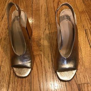 Sling back block heels